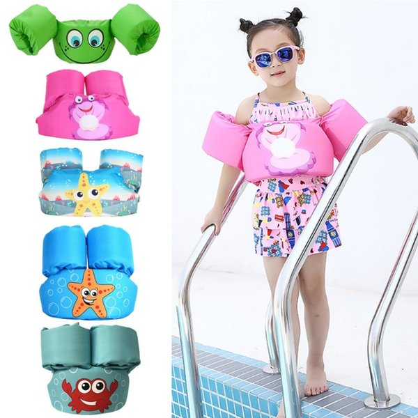 baby kids puddle jumper arm ring life vest floats foam safety life jacket sleeves armlets swim circle tube ring swimming rings