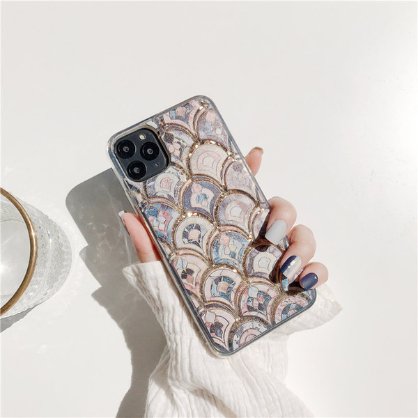 Применить Iphone11 Xs Но мрамор Scale Hand Shell Apple, Хг / 8Plus Liquid Quicksand 7 Soft Shell