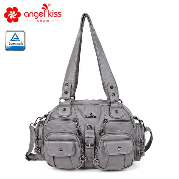 angelkiss fashion women shoulder crossbody bag female casual totes bag pu leather purse ladies hobo messenger (442869005) photo