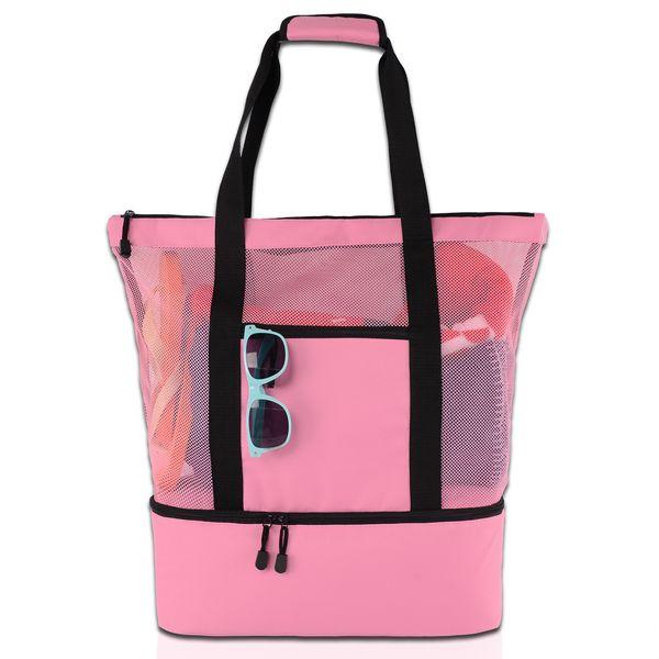 Women  houlder grid volume bag large capacity handbag waterproof beach bag colorful type  outdoor lady  hopping bag qqa354