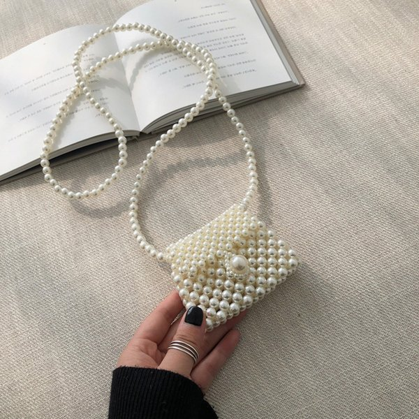 purse female messenger vogue embroidery dinner seashell pearl crossbody decorative beaded handmade original cute coin purses (547977464) photo