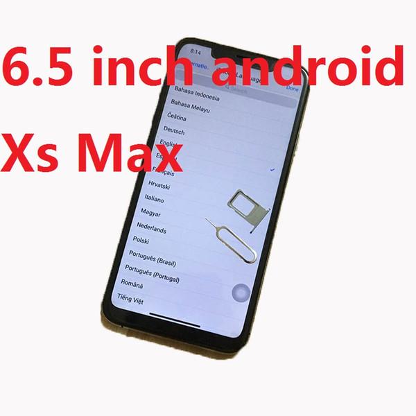 Dhl free hiping goophone x  max 6 5 inch android 7 0 quad core 1gb ram 8gb rom mtk6580 3g wcdma  martphone