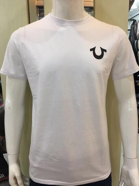 19ss новый сша красный черный белый мужские робин футболка с настоящими джинсами и фото