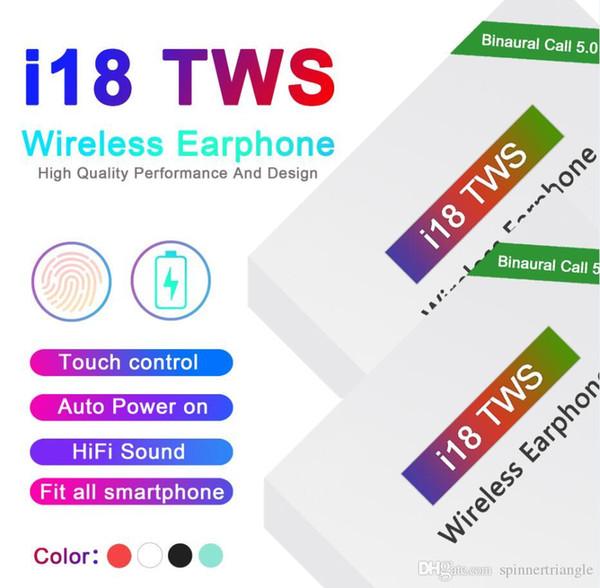I18 tws Touch 5.0 беспроводные наушники Bluetooth с всплывающим окном стерео наушники автома фото