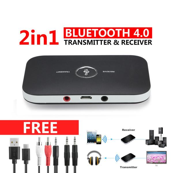 HIFI Беспроводной Bluetooth 2 in1 Аудио Передатчик Приемник 3.5 ММ RCA Музыкальный Адаптер фото