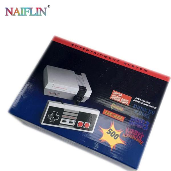 ТВ видеоигры портативная консоль новейшая развлекательная система для 500 новых игровых консолей модели NES Mini