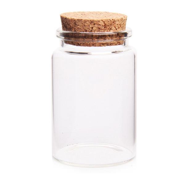 Горячие продажи 30 * 40 мм 15 мл пустые стеклянные бутылки банки с пробкой пробки для