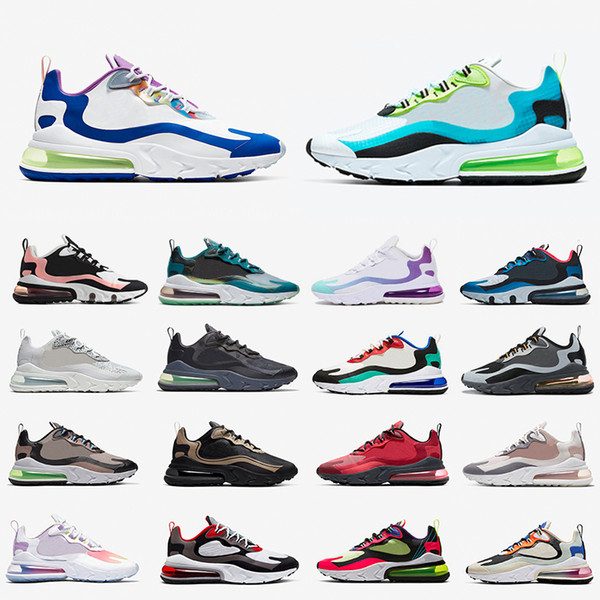 Nike air max 270 react shoes airmax Psyched By You 270 react mens running shoes Royal Blue Bleached Coral Grey Orange In My Feels Bauhaus men women sports sneakers фото