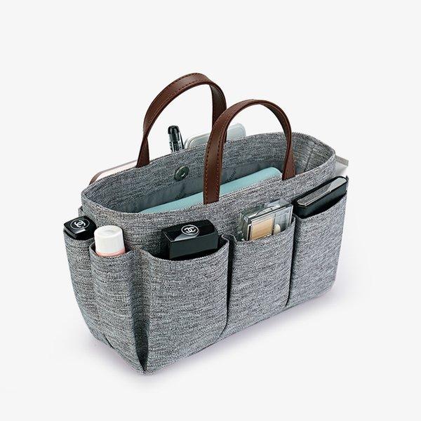 quality organizer bag organizer insert compartments makeup handbag travel inner purse storage portable jacquard cosmetic bags (548390105) photo