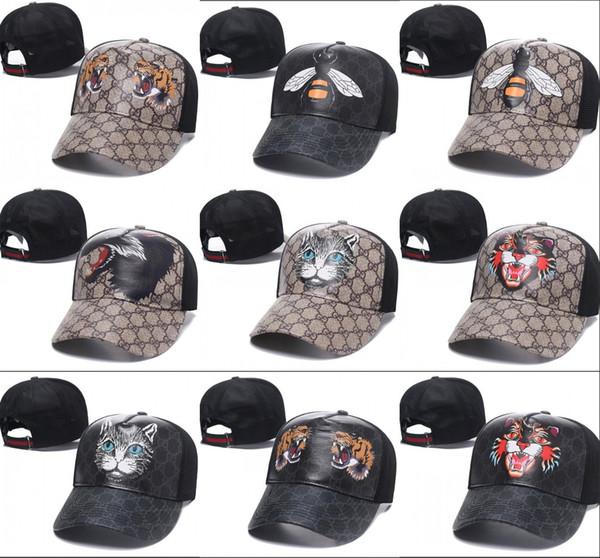2019 новый мужской дизайнер папа кепка хлопок высший сорт гольф кепки тигр вышивка фото