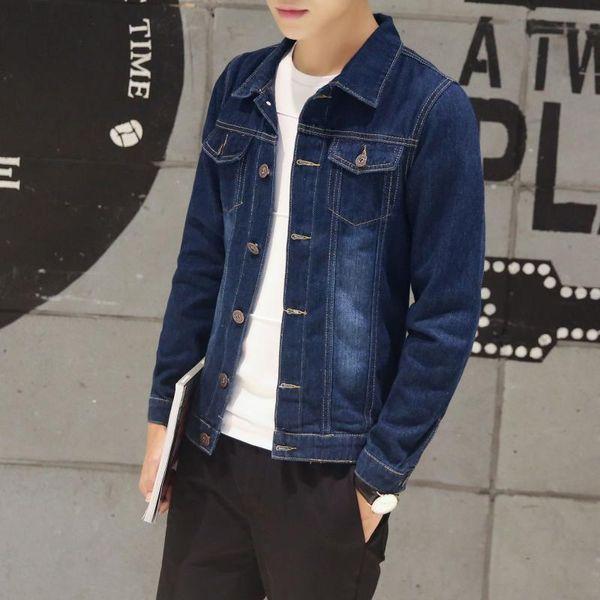 Spring and autumn 2020 Fashion solider teenagers thin new casual men's jacket Korean slim men's denim jacket