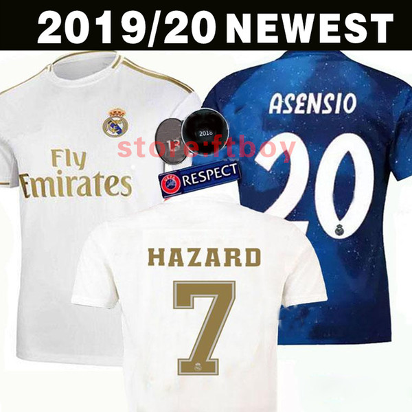 Real madrid jer ey  2019 2020 hazard i co  occer jer ey  ergio ramo  modric bale football  hirt uniform  kit 19 20 cami eta  ea  port