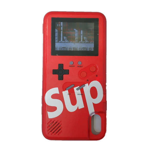 Sup handheld game con ole  tpu  ilicagel phone ca e cover 36 cla  ic game player rechargeable for iphone678 plu  x xr x  max