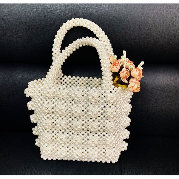 handmade beaded pearls bags for women's bags elegant acrylic  bag women shoulder bag evening clutch phone purses ladies (478940832) photo