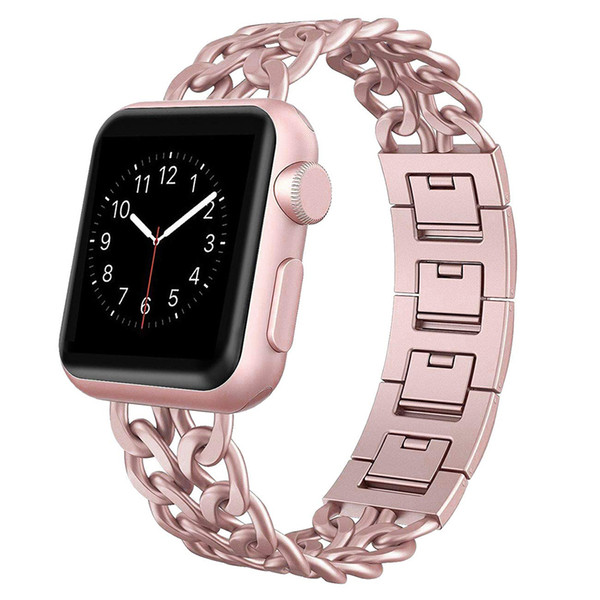 stainless steel strap for apple watch 5 4 40mm 44mm band metal link bracelet watchband replacement for iwatch series 1 2 3 42mm 38mm