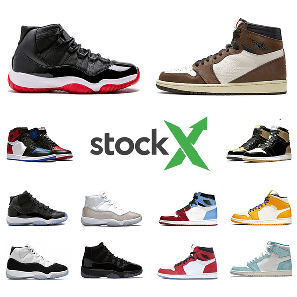 Nike Air Jordan Retro 11 Stock X 378037-061 Bred 2019 XI 11 Mens Basketball shoes 11s Concord Space Jam Cap and Gown Men Women Sports sneakers 5.5-13