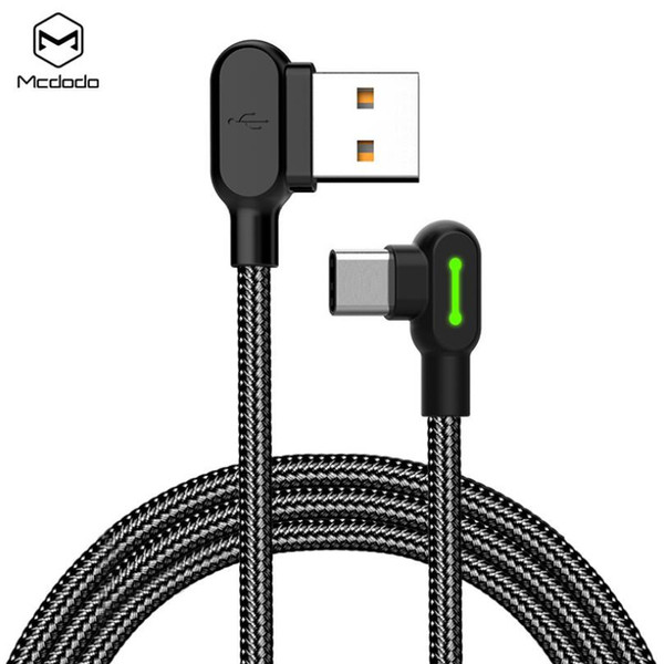 Mcdodo micro u b cable for type c cable 90 degree fa t charging cable mobile phone charger cord adapter game u b