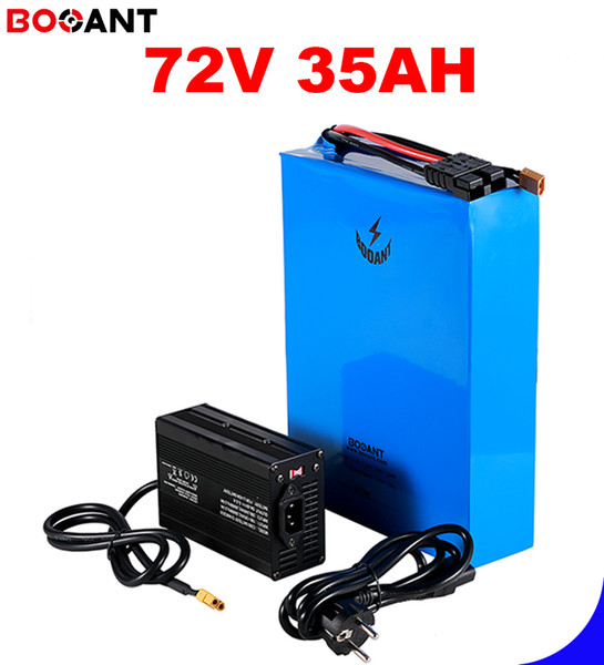 China high power 72v lithium battery 35ah 18650 batterie  for 100w to 3000w motor  4a charger