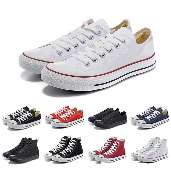 Новые Унисекс Low-Top взрослых женщин Мужские ботинки холстины звезды Все Размер 35-46