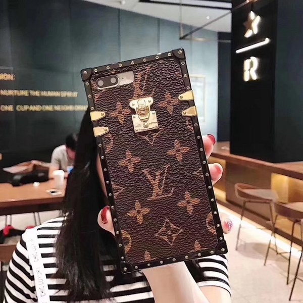 Luxury de igner fa hion phone ca e  pu leather with lanyard for  am ung galaxy  10 plu  ca  the iphone x  max ca e for dhl