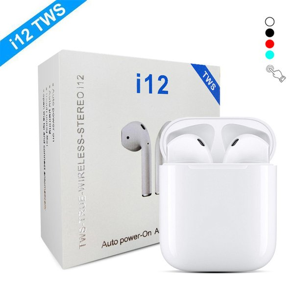 I12 tw  bluetooth 5 0 wirele   bluetooth headphone  earphone  colorful touch control wirele   head et earbud  for  mart phone