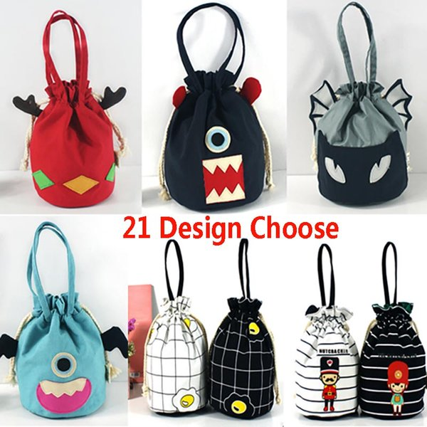 fashion large party gifts bags with handles ladies printed purse drawstring packaging pouch storage bag for coin key xd20374 (484449682) photo