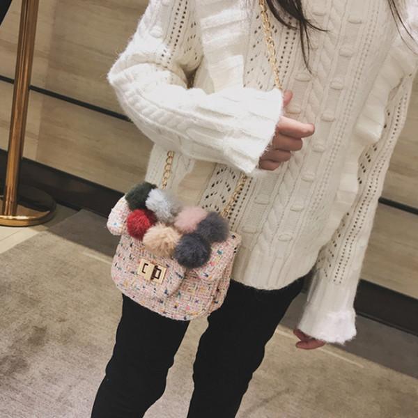 lkeep new winter cute plush ball bag princess girl party bag purse soft fashion shoulder bow hair ball handbag (483355850) photo