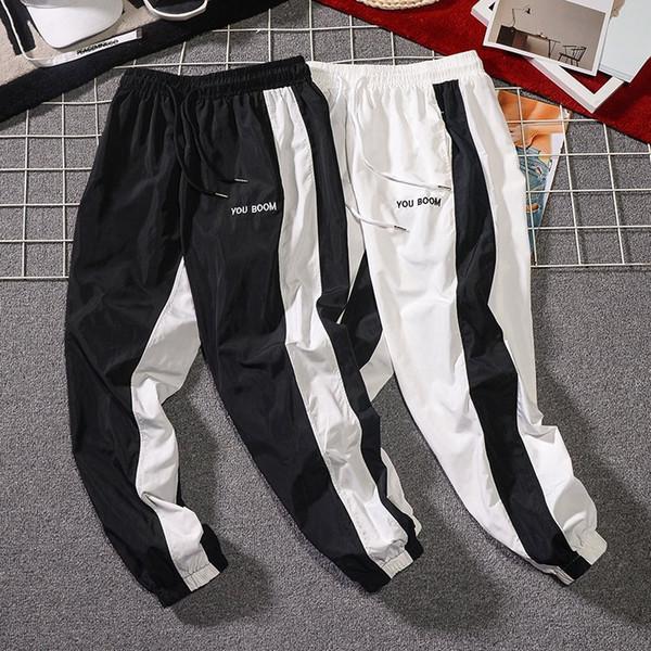 MarchWind бренд дизайнер лето новые мужские повседневные брюки Японский стиль тенденция мужской шнурок брюки Мужские уличные хип хоп тренировочные брюки фото