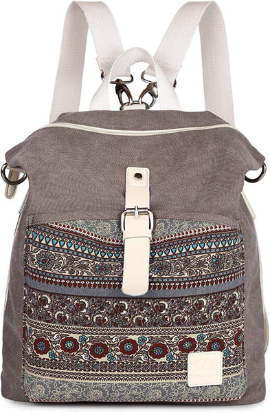 women girl backpack canvas rucksack shoulder bag purse (511144016) photo