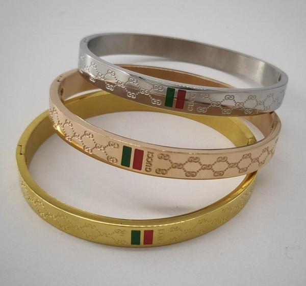BangleNew 925L Brand Designer bracelet For women 3 colors Ladies Titanium steel Fashion bracelet with 3 colors Luxury Jewelry for gift