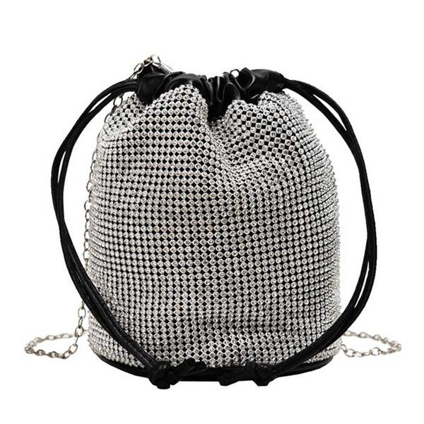 ladies crossbody bags women bucket handbag style shoulder bag samll sling handbag purse sequins handbag purse (542821731) photo