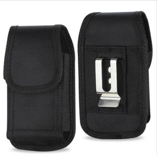 New for iphone x 7 8 plu  univer al  port nylon leather hol ter belt clip phone ca e cover pouch for  am ung huawei  9 plu