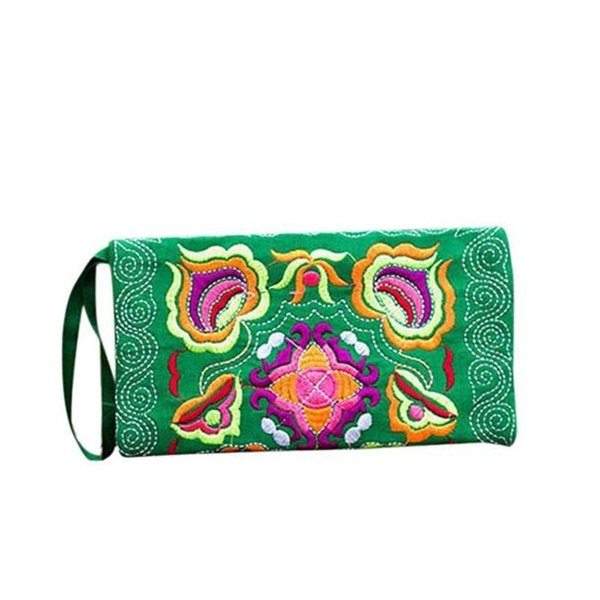 coin purse women ethnic handmade embroidered clutch bag vintage purse wallet small wallet zipper coin purse#h10 (447641491) photo
