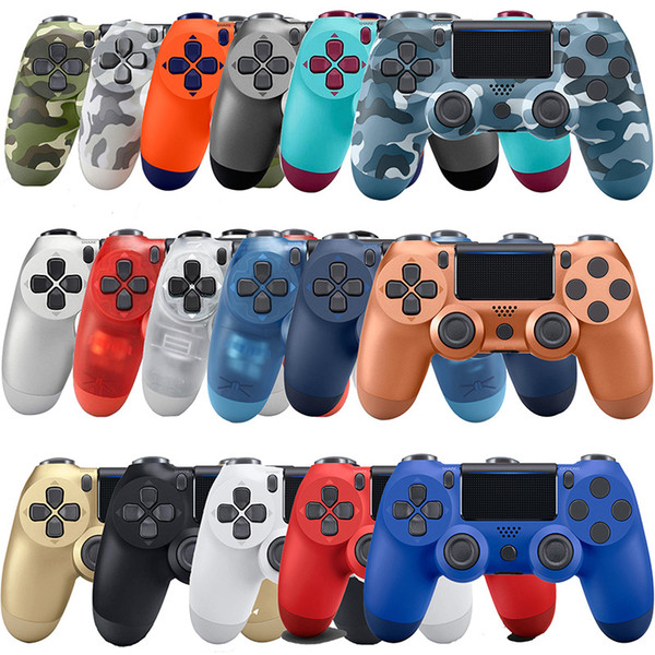 Wirele controller for p 4 game con ole dual hock joy tick bluetooth gamepad handle for play tation 4 with retail box high quality