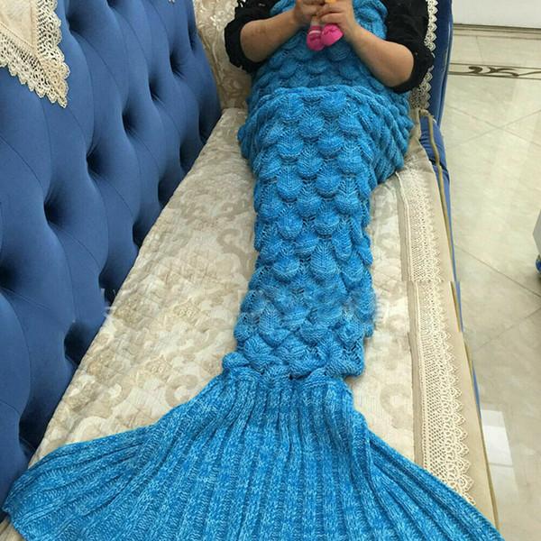 Mermaid одеяло для кровати хвост броска плюшевого пледа на диван-кровати пушистых покрывал вязаных детей для взрослых кровати одеяла фото