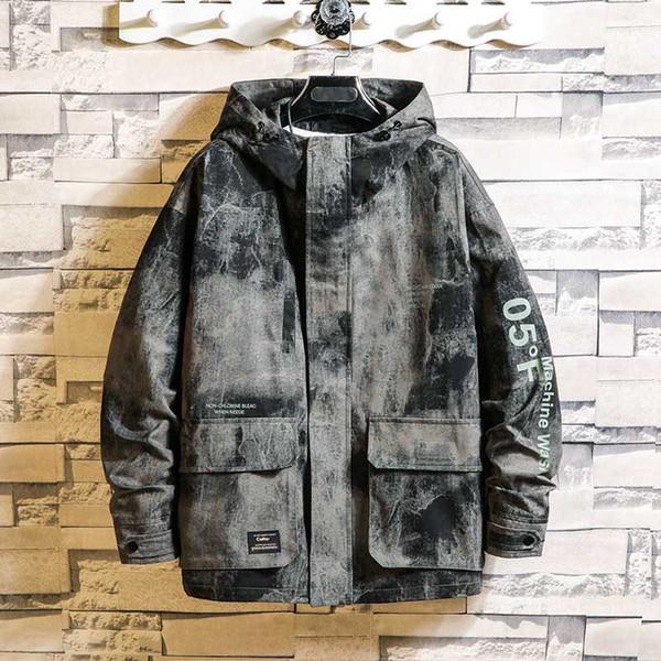 Wind Winter Jacket Men Denim Camouflage Jeans Jacket Men Streetwear Casual Warm Fashion 2020 Casaco Masculino Clothing JJ60JK