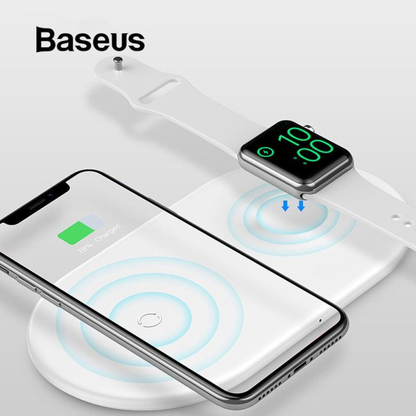 Ba eu  2 in 1 wirele   charger pad for apple watch 4 3 2 1 upgrade ver ion fa t wirele   charging for iphone 8 x  max  am ung  9 j190704