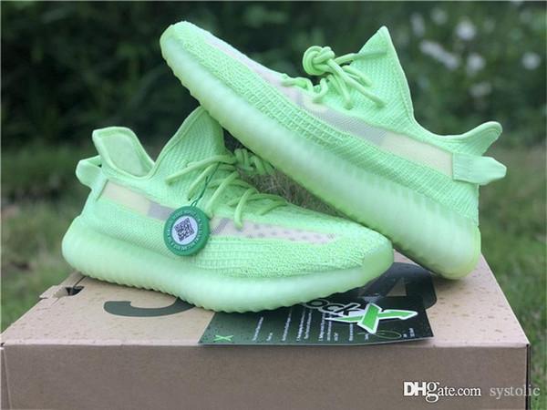 2019 новый релиз 350s V2 GID светятся в темноте Kanye West мужчины женщины кроссовки спортивные кроссовки EH5360 FU9013