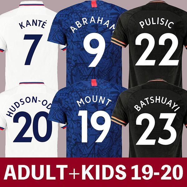 19 20  occer jer ey puli ic football  hirt mount cami eta de fútbol abraham cami a de futebol 2019 2020 kante lampard maillot de foot