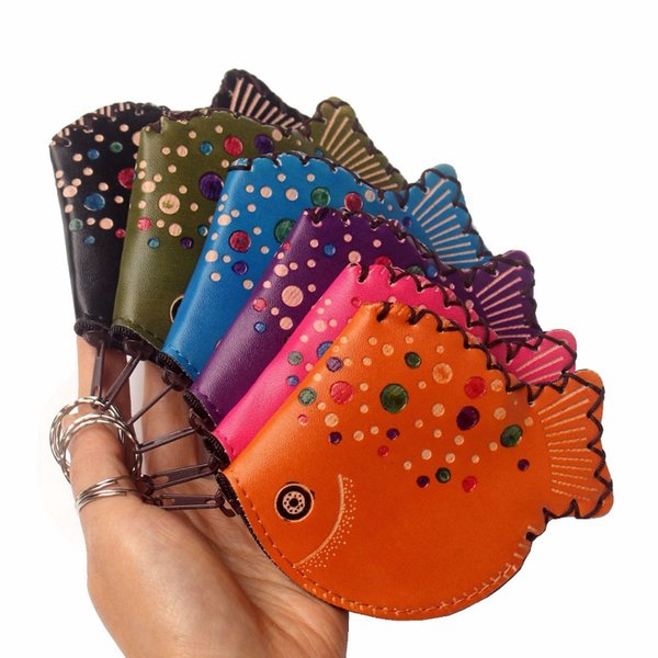 cartoon fish model coin purse cute children's wallet lady's change purse womens mini wallets and kid purse classic coin bags (530442858) photo