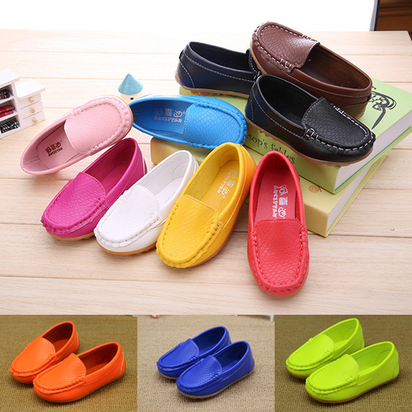 12 Colors All Sizes 21-36 Children Casual Styles Boys Girls Shoes Soft Comfortable Loafers Slip On kids shoes designer shoes EMS JY608