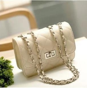 women chain shoulder bags ladies pink purse bag girl candy color messenger bag mini crossbody beige diamond lattice (510578207) photo