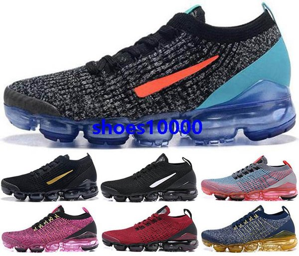 2020 air Vapors 3 max eur 46 Youth fly boys Mens Shoes 2s Sports Trainers Sneakers vm Running women knit Men size us 5 12 New Arrival Cheap