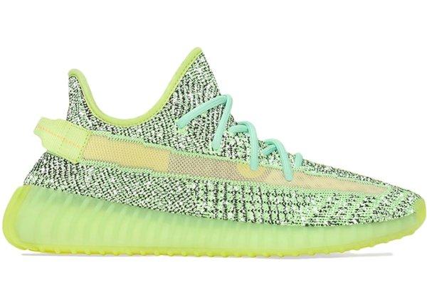 2020 Static Black Reflective Kanye West кроссовок Zebra Glow Облако белого Yeezreel Мужчины Женщина Спорт Sne фото