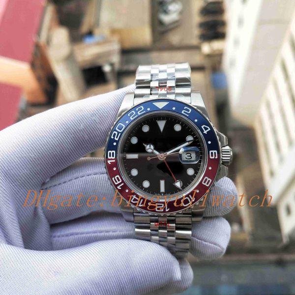 Super GMF заводская версия Basel World GMT II 904L 40 мм мужские часы с автоподзаводом Cal.3285 красн