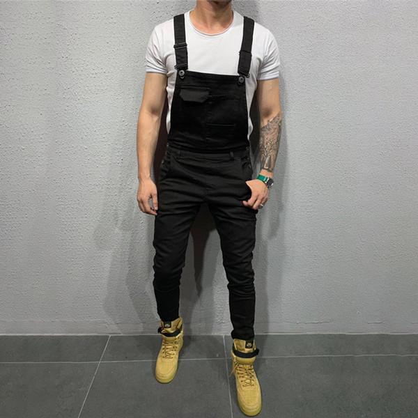 New Men Denim Oeak Jumpsuit Casual Pants Loose Pants Bib Men's Fashion Hip Hop Man Suspender Overalls