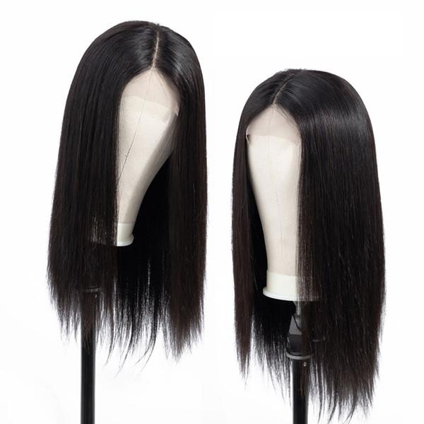 Rxy 10a peruvian virgin traight lace front human hair wig natural traight 100 human hair lace front wig peruvian 13x6 lace frontal wig
