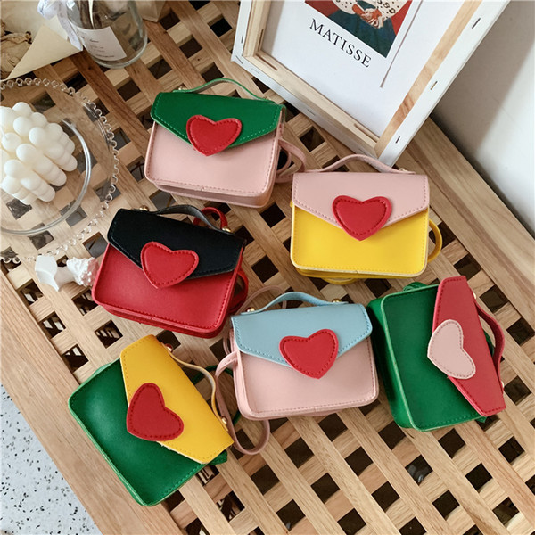 cute baby mini coin purse pouch kawaii kids small heart coin wallet bag box purse little girl money change purses gift (538940569) photo