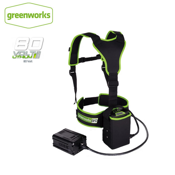 greenworks 80v battery harness, compatible for greenworks 80v battery,weight reduction bh80a00 return (522179632) photo