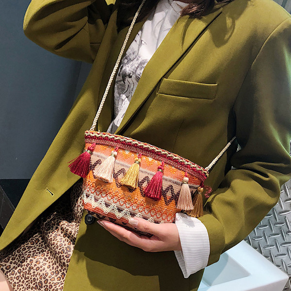 purses and handbags 2019 vintgae fashion tassel crossbody bag handbags (482261199) photo